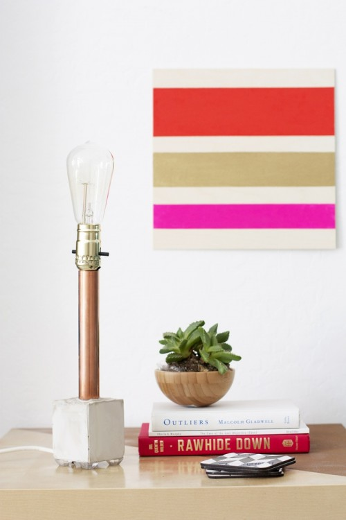 11 diy copper pipe crafts for house d cor by styles for Pipe decorating ideas